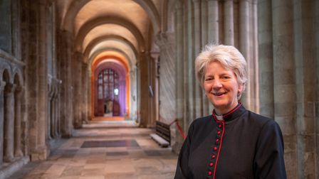 The very reverend Jane Hedges, Dean of Norwich.
