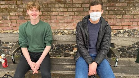 Callum Wootten (left) and Jack Ashman in the city centre