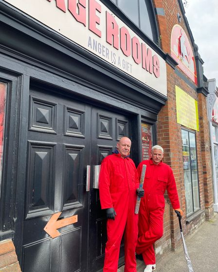 Co-owners of the Rage Rooms in Norwich Nigel Spurling and Leighton Johnson are preparing to take the Rage Rooms on tour