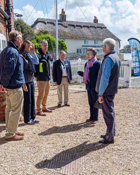 Her Royal Highness The Princess Royal visiting Chichester Harbour