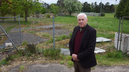 Town councillor Peter Berry against houses being built at the former Pinebanks site in Thorpe St And