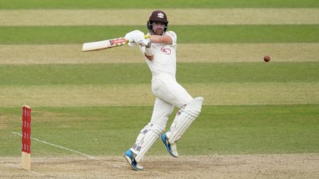 Rory Burns in batting action for Surrey