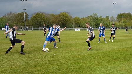 Colney Heath and Shefford Town & Campton in action
