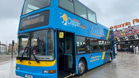 An open top bus service was launched in Great Yarmouth on Saturday (May 15).