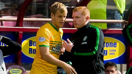 Celtic manager Neil Lennon gives Teemu Pukki his debut during the Scottish Premiership match at Tyne