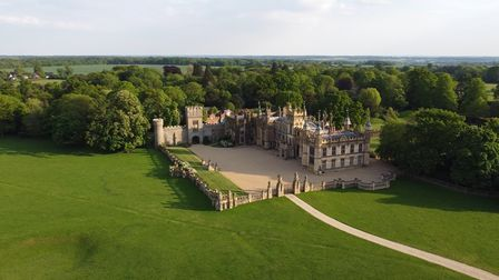 Knebworth House from the air.