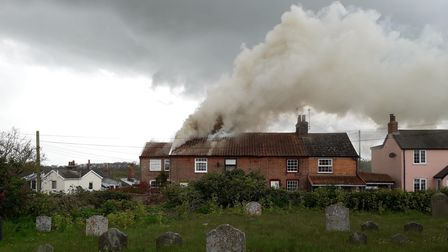Four fire engines have been called to a house fire in Shotley