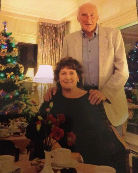 John Phillips with sister Barbara on her 80th birthday
