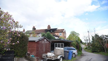 House fire in Shotley Picture: CHARLOTTE BOND