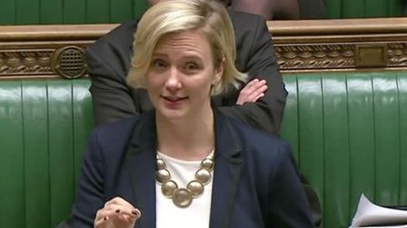 Stella Creasy in the House of Commons before the coronavirus pandemic. Photograph: Parliament TV.