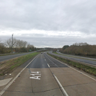 Delays were reported to the Orwell Bridge after a lorry blocked one lane of the A14 westbound