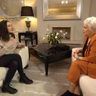 Adele Bellis being interviewed for the new Crime + Investigation series 'Survivors with Denise Welch'.