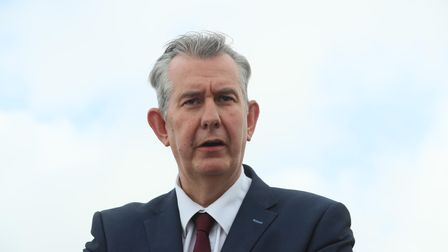 Democratic Unionist Party new elected leader Edwin Poots at Stormont, Belfast