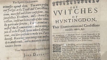 The exhibition looks at the Witchfinder trials in Huntingdon in the 16th Century.