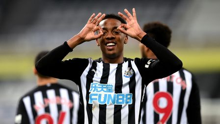 Newcastle United's Joe Willock celebrates scoring their side's third goal of the game during the Pre