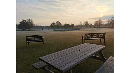 Covers on cricket wicket