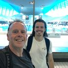 Zookeeper Nick Burnham with his dad Nige who are swimming 5k to raise funds for ZSL