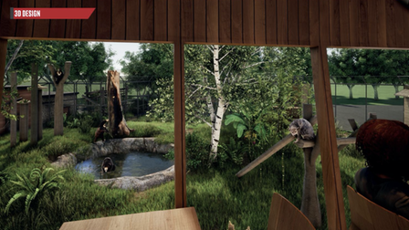A CGI image of how Sun Bear Heights will look at Paradise Wildlife Park.