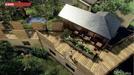 ACGI image of how the treetop walkway atSun Bear Heights will look at Paradise Wildlife Park.