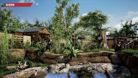 ACGI image of how Sun Bear Heights will look at Paradise Wildlife Park.