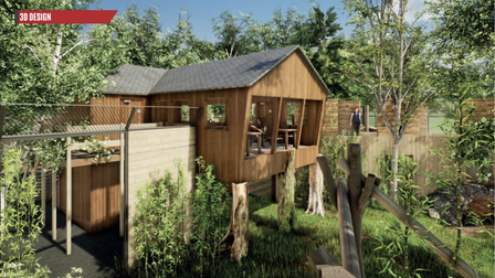 ACGI image of how Sun Bear Heights will look at Paradise Wildlife Park