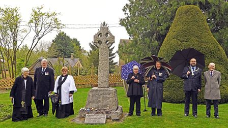 A service was held at the Great Paxton War Memorial.