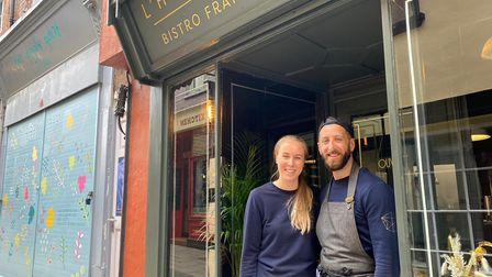 Gemma Aubrit-Layfield andThomas Aubrit fromL'Hexagone Bistro Français in Lower Goat Lane, which reopened on May 17.