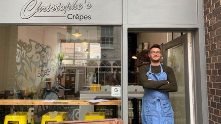 Chris Smith, owner ofChristophe's Crêpes in Pottergate