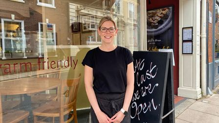 Emily Blakemore, supervisor at The Waffle House in St Giles Street which is back open for diners.