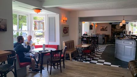 The Poacher pub in Portishead High Street reopened to customers indoors on Monday.