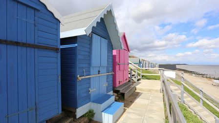 Beach hut 568 at Brackenbury Fort, Old Felixstowe, is on the market for £40,000