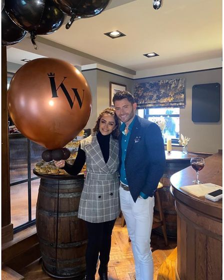 Hanna and Martin Kinsella at The King William pub launch in Wilmslow, Cheshire