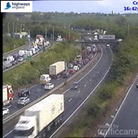 The current delays at Copdock after a lorry breakdown on the A14