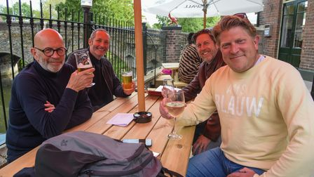 Customers enjoying a drink at The Red Lion in Norwich. Picture: Danielle Booden