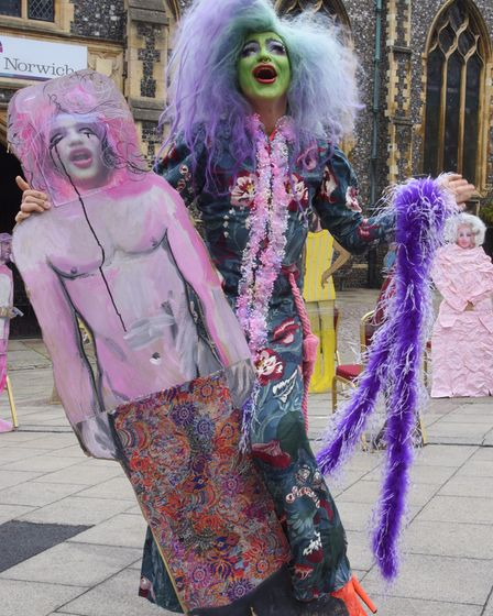 Oozing Gloop, from the opening show Don't Touch Duckie, at the launch of the Norfolk and Norwich Festival 2021.