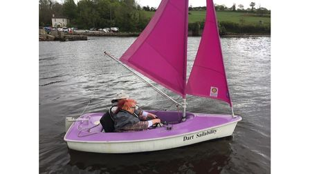 Disabled sailor in boat