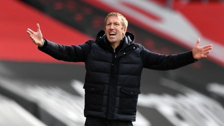 File photo dated 14-03-2021 of Brighton and Hove Albion manager Graham Potter. Issue date: Thursday