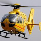 The Air Ambulance was called to a Suffolk town this afternoon after a man suffered from a fall.