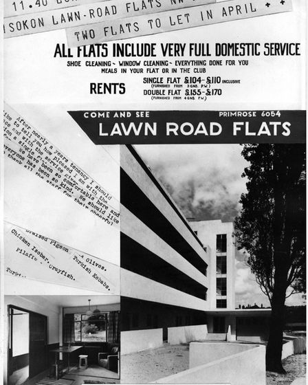 An advert for the new modern way of living in the Isokon flats