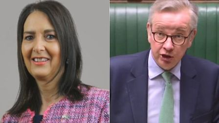 SNP's Margaret Ferrier (L) and Michael Gove during a House of Commons Q&A; ParliamentLive