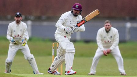 Tim Western of Torquay CC batting during the Tolchards Devon Cricket League, A Division Match betwe