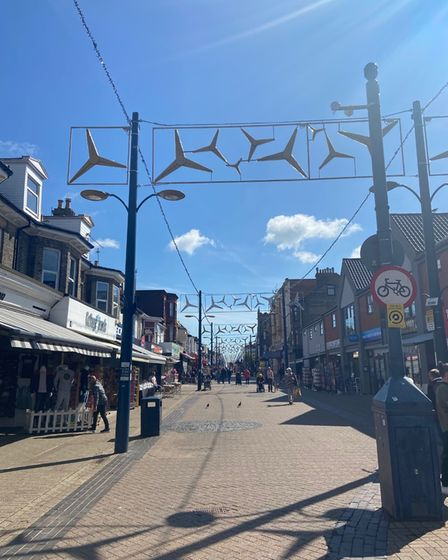 Windfarm themed lighting in Regent Road Great Yarmouth