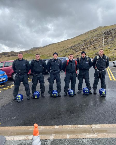 Officer's at the Snowdon base.