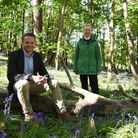 Diana Hunt, Suffolk Deputy Lieutenant, and Tom Brown of the Green Light Trust launch the project in Martlesham