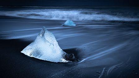 Andrew Colgan's picture of Diamond Beach in Iceland for Royston Photography Society's competition