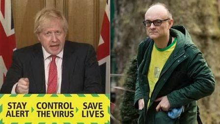 Prime minister Boris Johnson and chief political advisor Dominic Cummings (R) have been criticised b