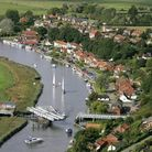 An aerial view of Reedham.
