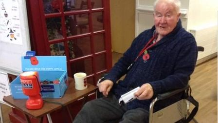 Les Mortimer has sold poppies for the Royal British Legion outside Sainsbury's in Stevenage for deca