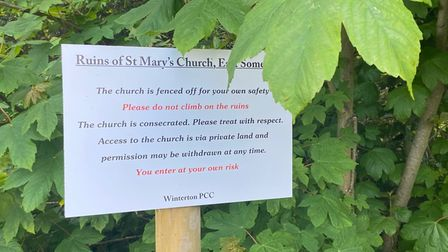 St Mary's Church ruin in Somerton has been fenced off