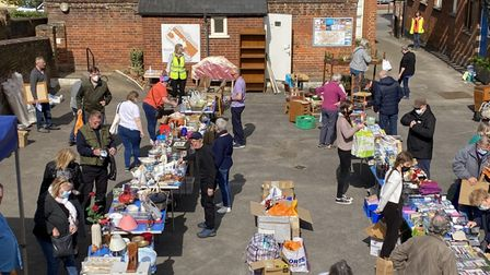 A Schoolyard Sale at the British Schools Museum in Hitchin.